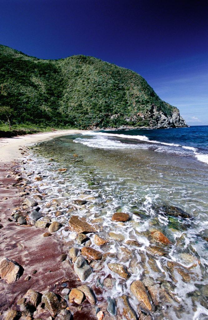 Seixos da Praia Valle Seco, Mar das Caraibas, Venezuela