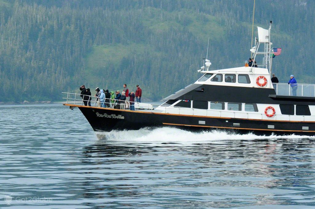 barco, prince william sound, rota ouro negro, Valdez, Alasca, EUA