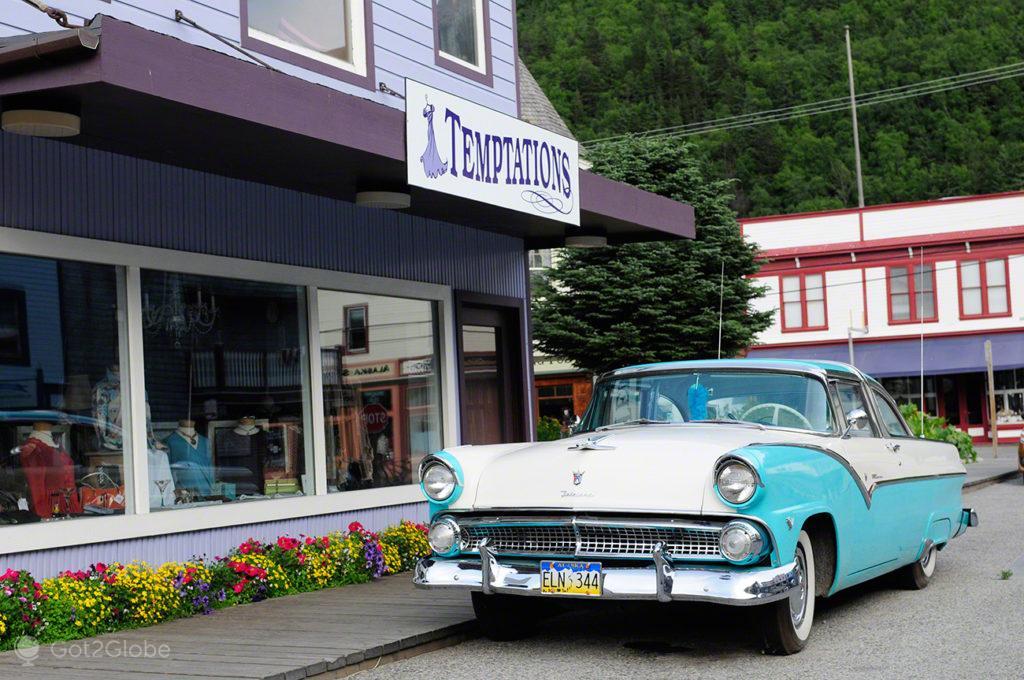 cadillac, Skagway, Rota do ouro, Alasca, EUA