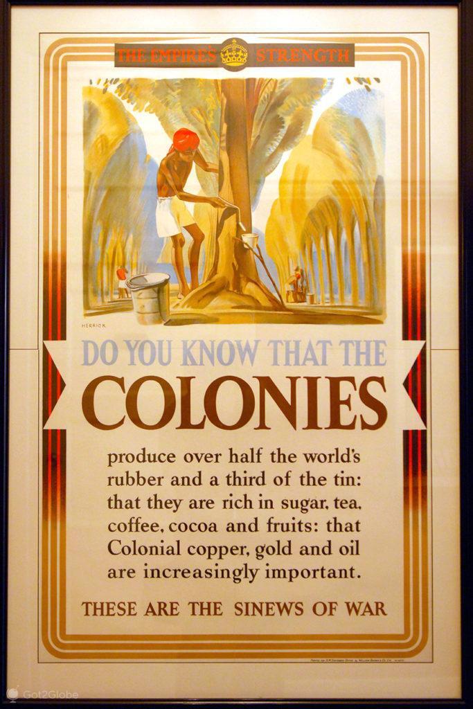 Cataratas de Victoria, Zimbabwe, cartaz imperialista