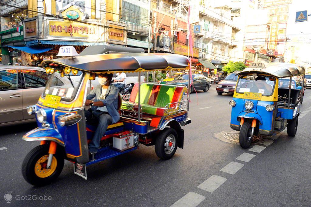 chinatown, tuk tuk, estrada, banguecoque, mil e uma noites, tailandia