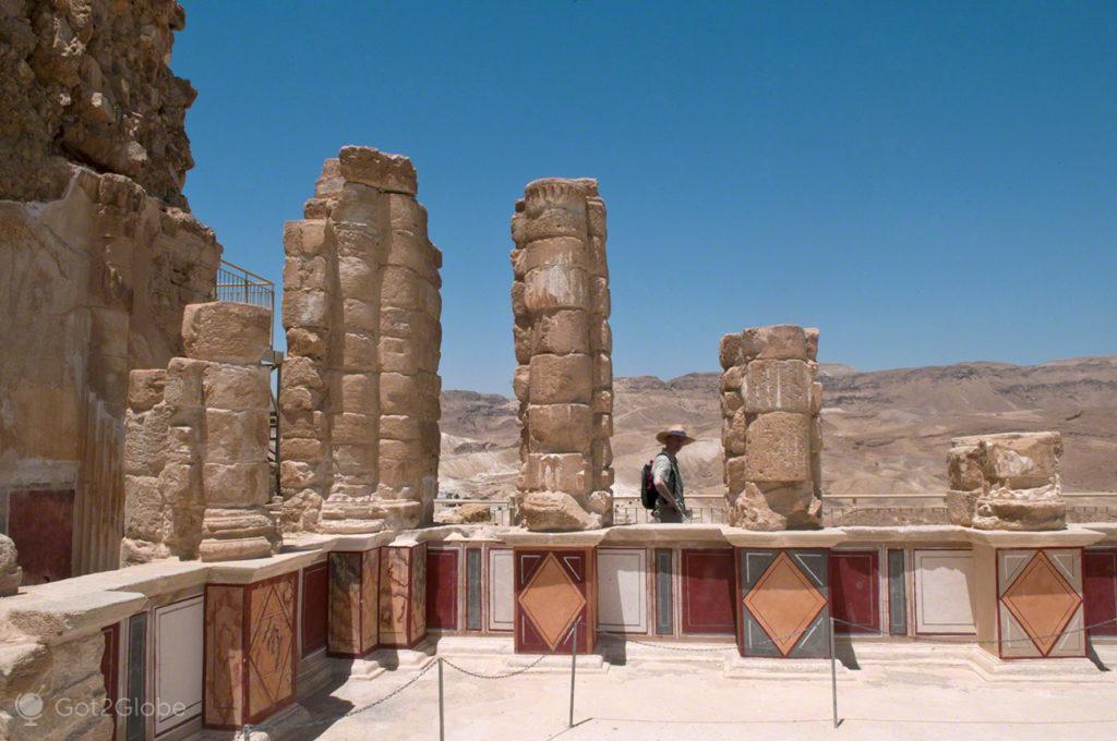 Colunas herodes, Fortaleza de Massada, Israel