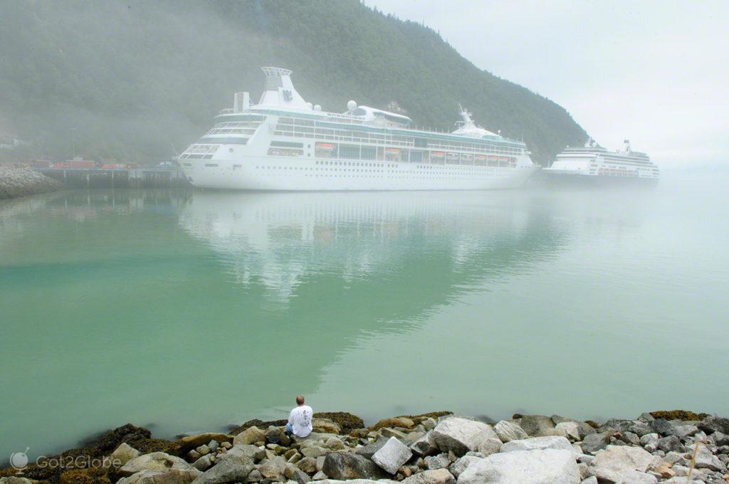 cruzeiros, Skagway, Rota do ouro, Alasca, EUA