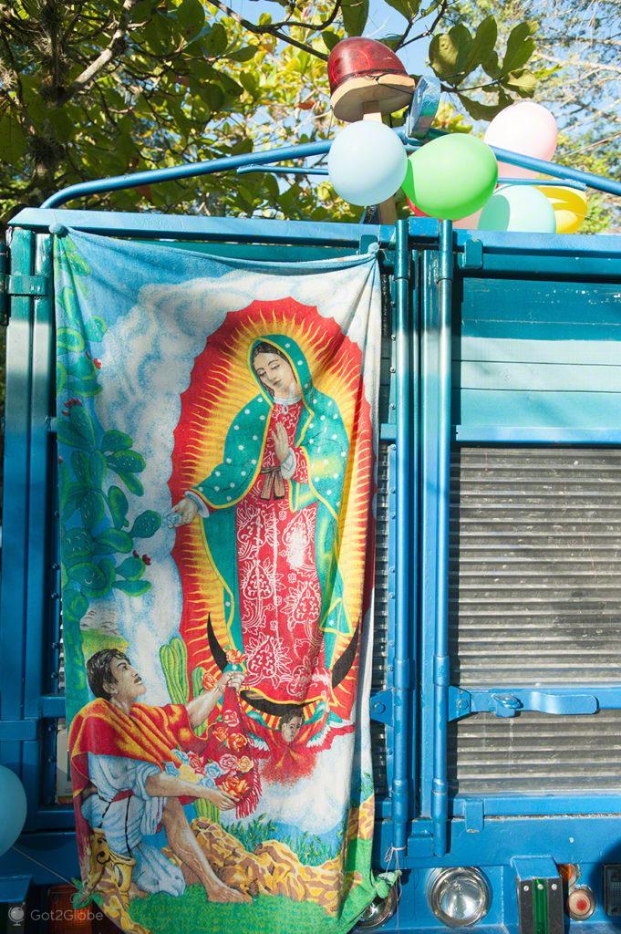 decoracao, camiao, peregrinos, nossa senhora, virgem, guadalupe, mexico