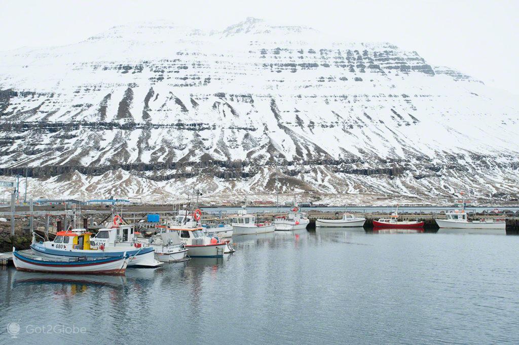 doca, barcos, pesca, fiorde, Seydisfjordur, Islandia