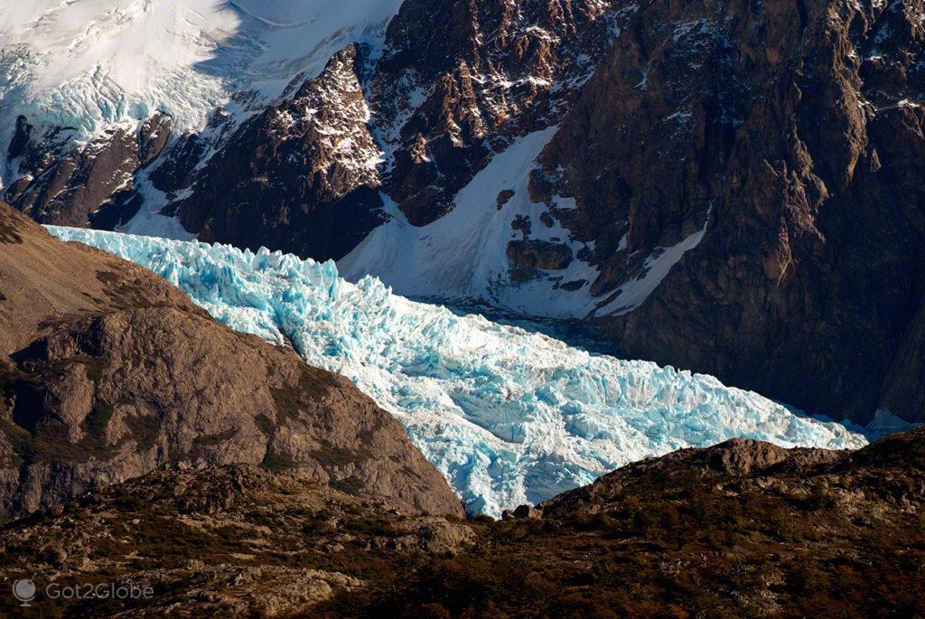 gelo glaciar viedma, monte fitz roy, argentina