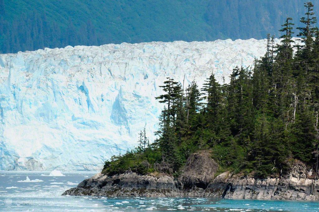 glaciar Meares, rota ouro negro, Valdez, Alasca, EUA