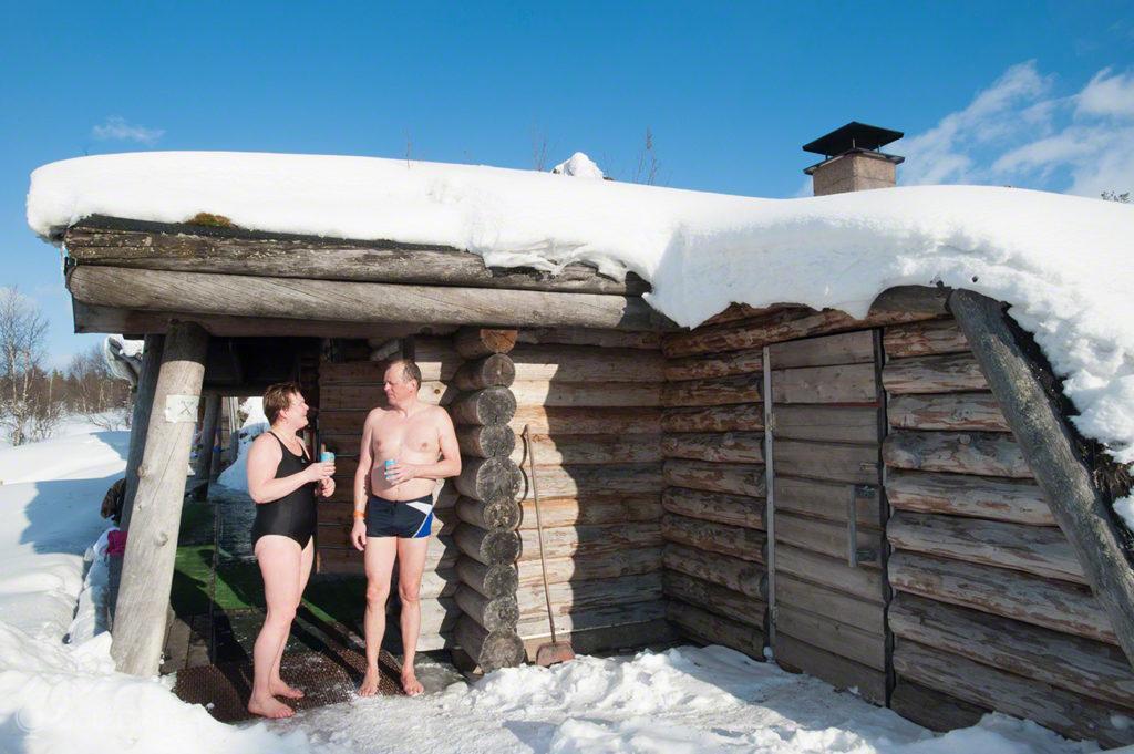 Hora cerveja, sauna finlandesa