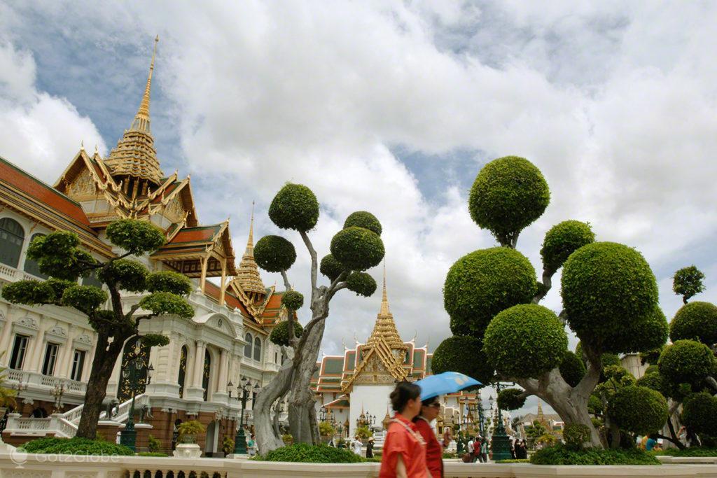 jardim, grande palacio, visitantes, banguecoque, mil e uma noites, tailandia