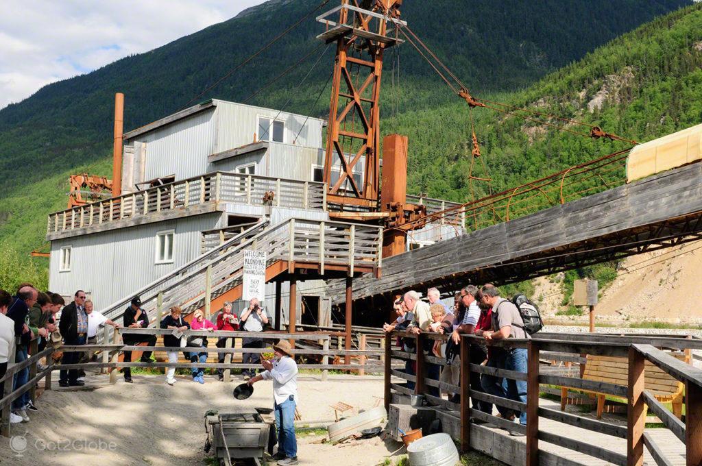 klondike Dregde, tour, Skagway, Rota do ouro, Alasca, EUA