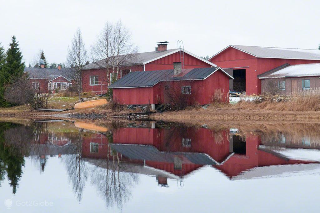 lago, ala juumajarvi, quinta, espelho, parque nacional oulanka, finlandia