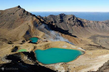 lagoas e fumarolas, vulcoes, PN tongariro, nova zelandia