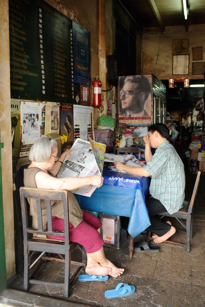 loja, ler jornal, ocio, banguecoque, mil e uma noites, tailandia