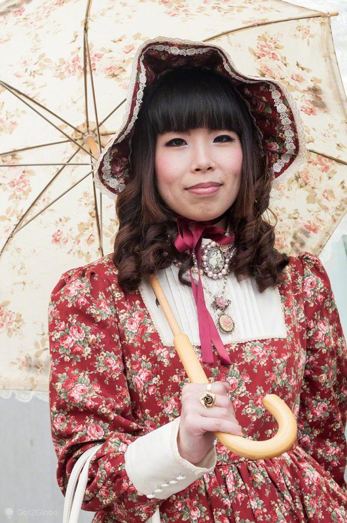lolita, retrato, Moda, Toquio, Japao