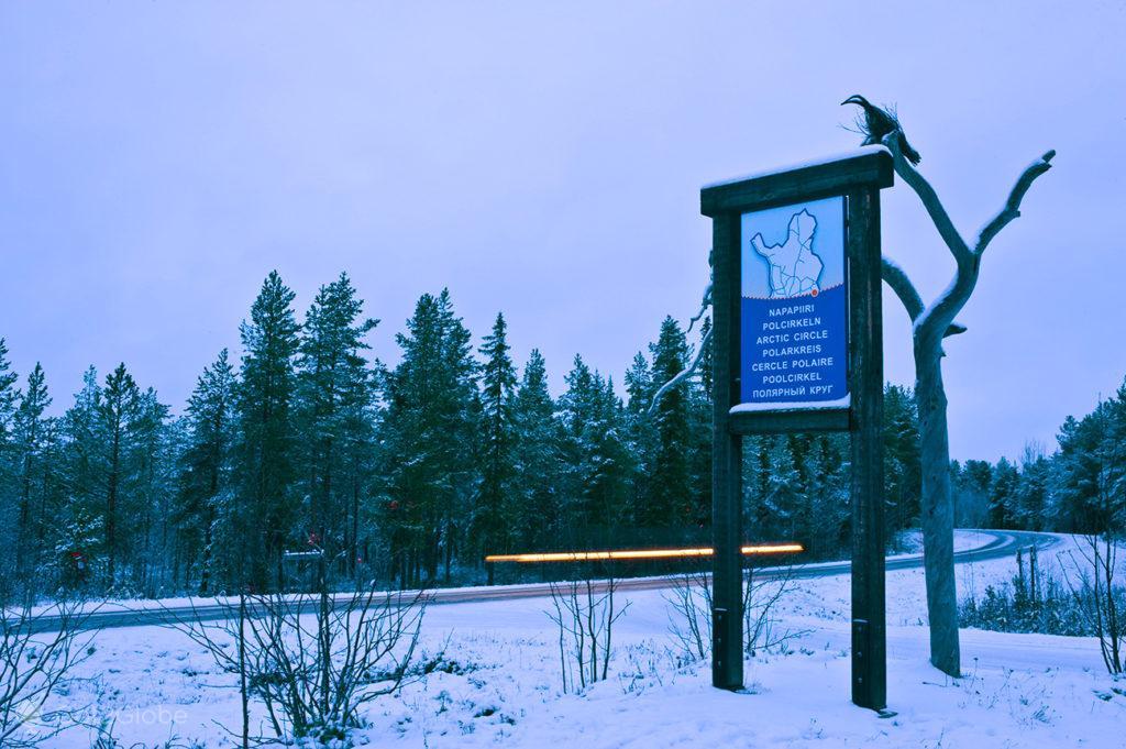napapiiri, circulo polar arctico, sinal, parque nacional oulanka, finlandia