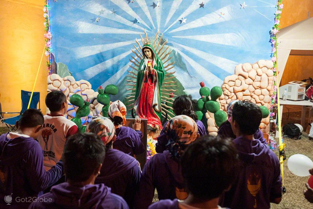 oracao, fieis, igreja, nossa senhora, virgem, guadalupe, mexico