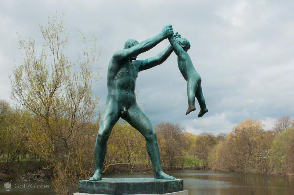 paternidade, estatua, parque vigeland, capital, oslo, noruega