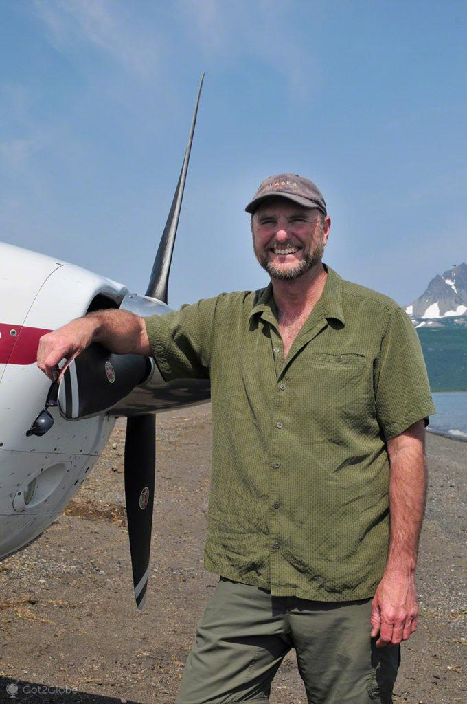 piloto, avioneta, passos grizzly, parque nacional katmai, alasca