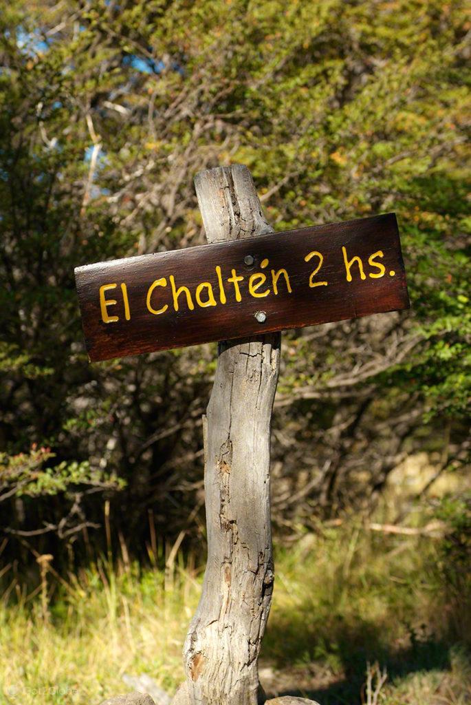placa trilho el chalten, monte fitz roy, argentina