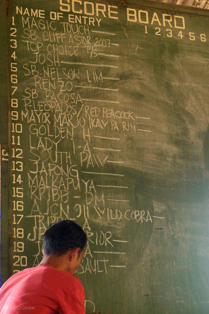 quadro de apostas, luta de galos, filipinas