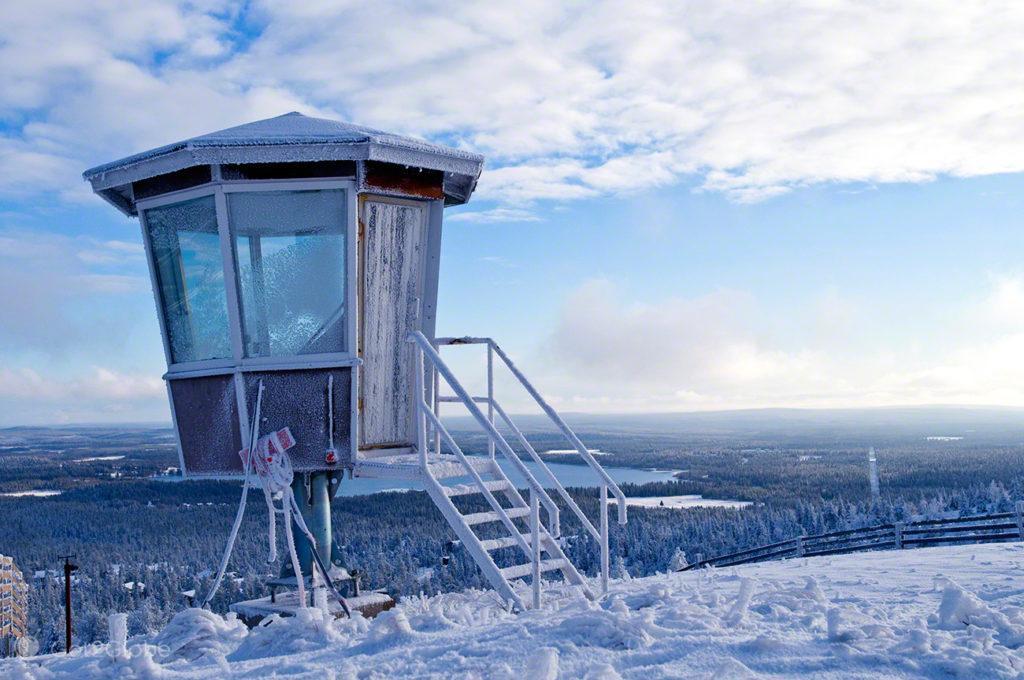 rukka, cabine, observacao, parque nacional oulanka, finlandia