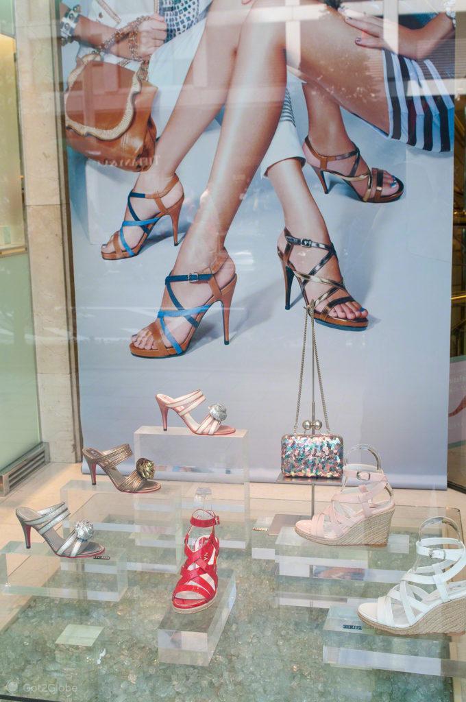 sandalias, sapatos, montra, Moda, Toquio, Japao