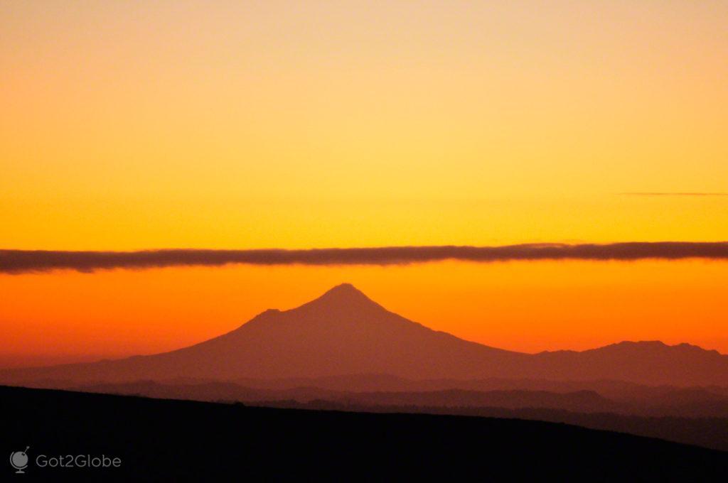 silhueta, montanha, vulcoes, PN tongariro, nova zelandia