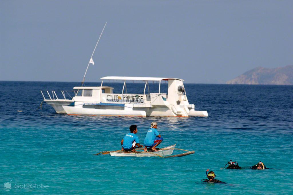treino mergulho, coron, busuanga, filipinas