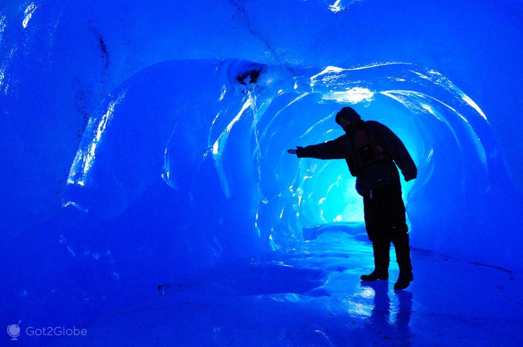 tunel de gelo, iceberg, rota ouro negro, Valdez, Alasca, EUA