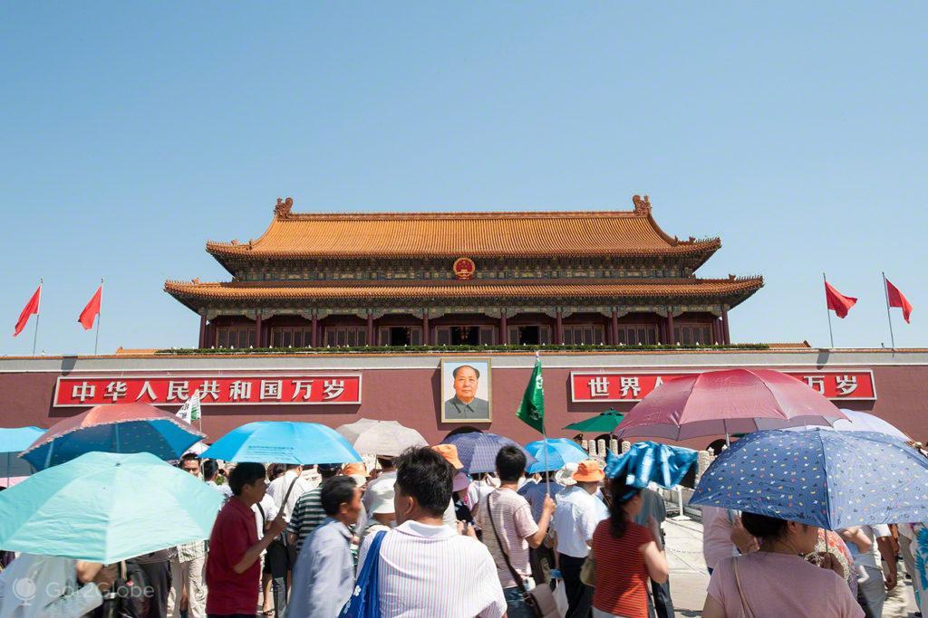 visitantes, mao tse tung, coracao dragao, praca tianamen, Pequim, China
