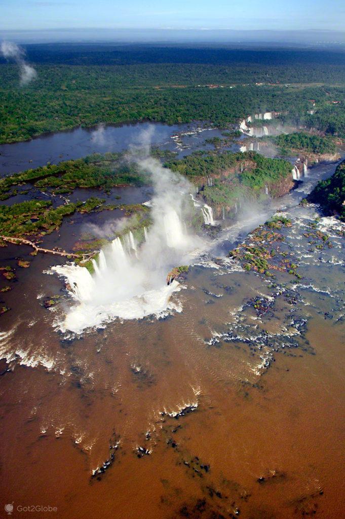 vista rio iguacu, cataratas iguacu, brasil, argentina