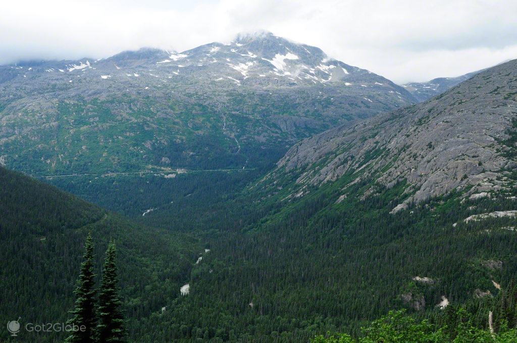 white pass, yukon, Skagway, Rota do ouro, Alasca, EUA
