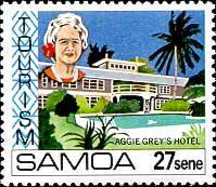 aggie grey, Samoa, pacífico do Sul, selo de Aggie Grey