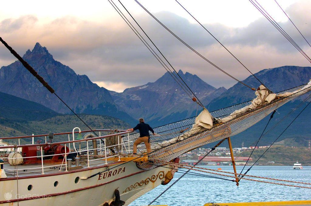 Bark Europa, Canal Beagle, Evolucao, Darwin, Ushuaia na Terra do fogo