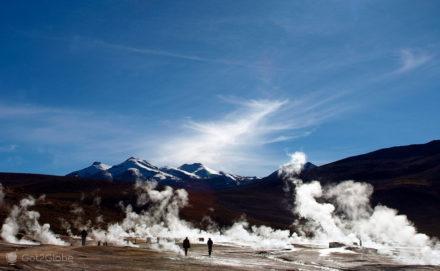 Geisers El Tatio, Atacama, Chile, Entre o gelo e o calor