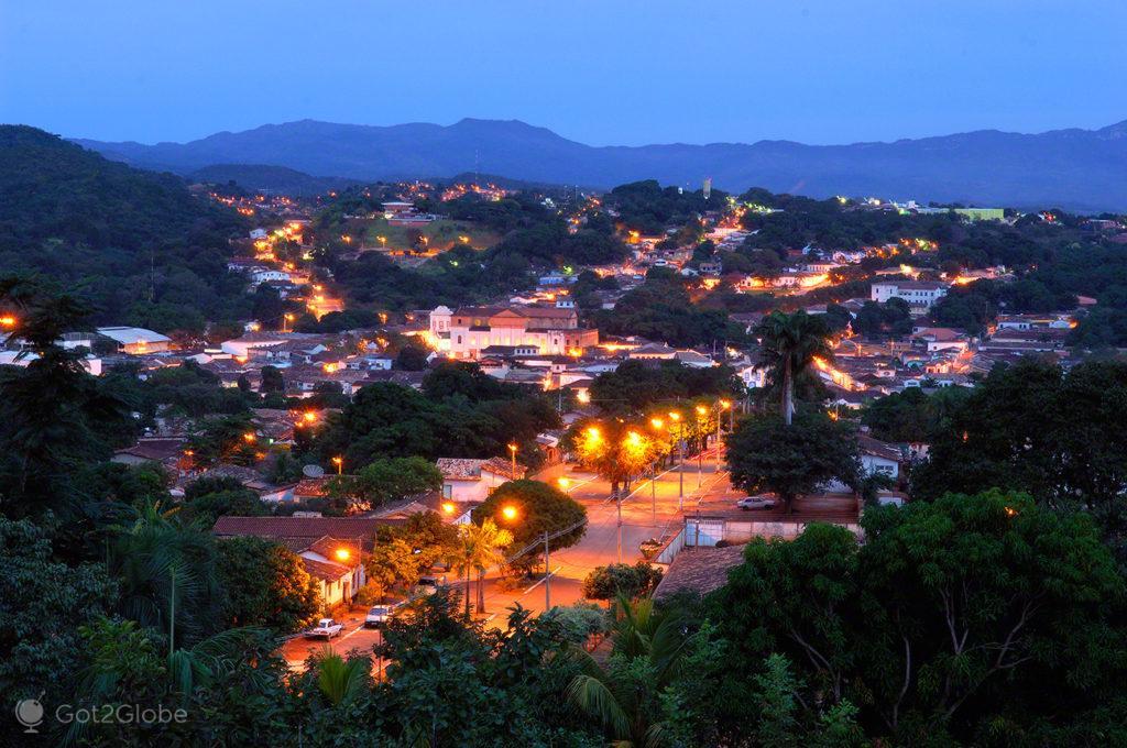 Casario crepuscular, Goiás Velho, Legado da Febre do ouro, Brasil