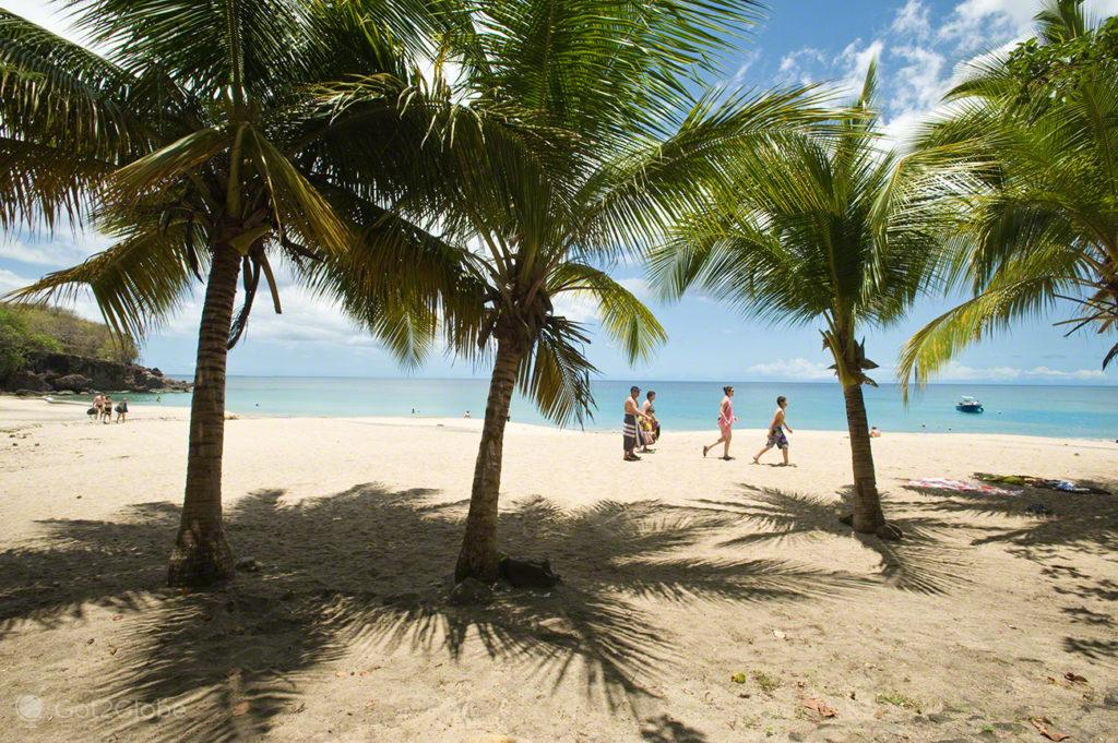 Família na praia, Guadalupe, Caribe, Efeito Borboleta, Antilhas Francesas