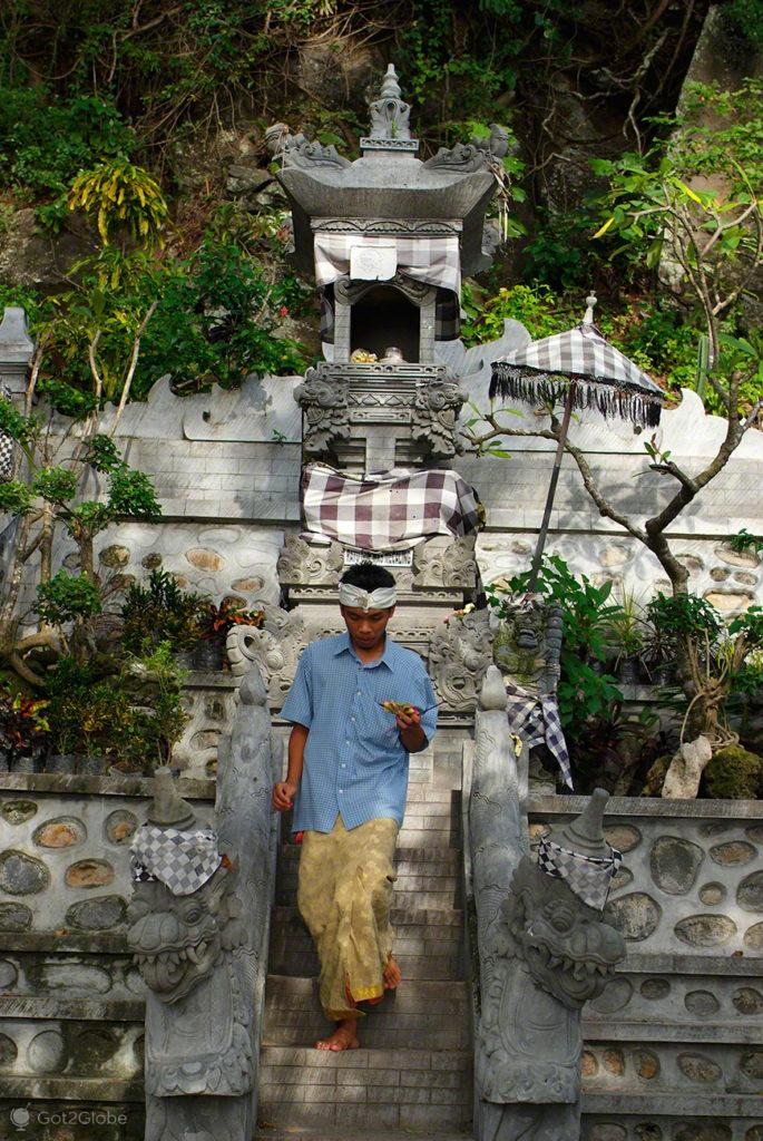 Crente do Hinduismo Balinês, Lombok, Indonésia