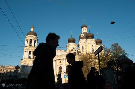 Na pista de Crime e Castigo, Sao Petersburgo, Russia, Vladimirskaya