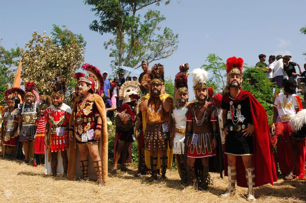 Romanos na crucificação, festival moriones, Marinduque, Filipinas