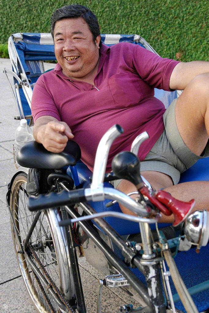 Condutor rickshaw, Singapura, ilha Sucesso e Monotonia