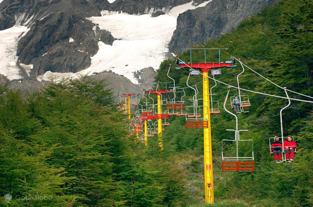 Teleférico para glaciar Martial, Ushuaia, ultima das cidades, Terra do Fogo, Argentina