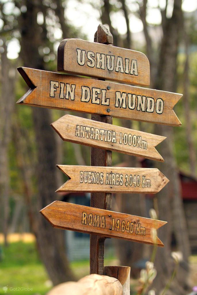 Direcções para o Mundo, Ushuaia, ultima das cidades, Terra do Fogo, Argentina