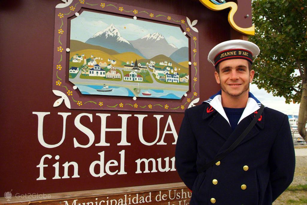 Marinheiro de Ushuaia, ultima das cidades, Terra do Fogo, Argentina