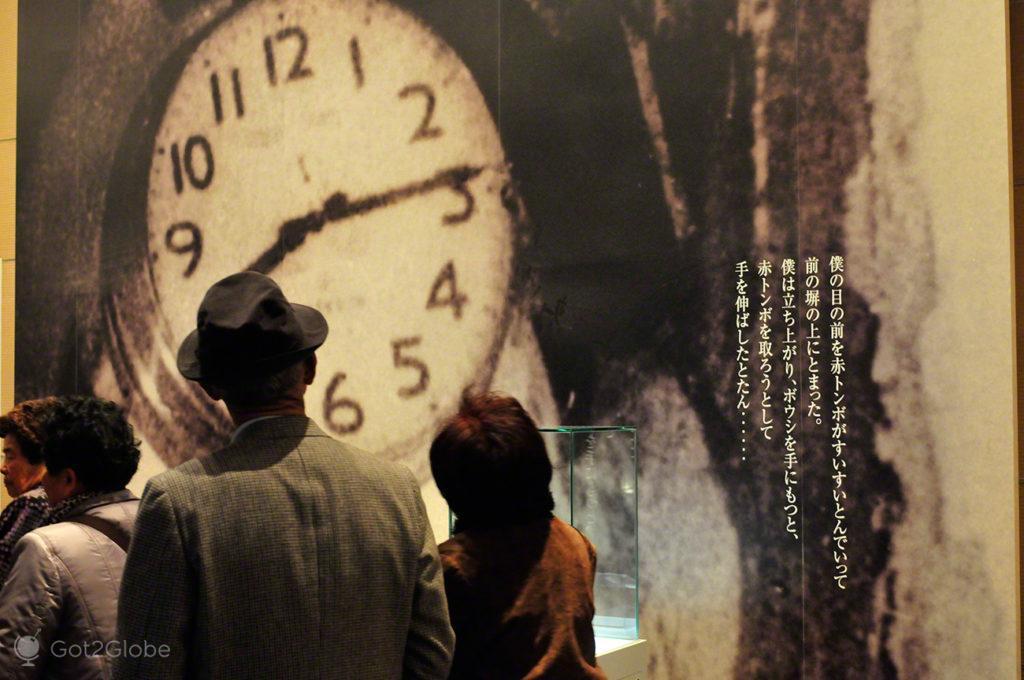Horas da detonação, Hiroxima, cidade rendida à paz, Japão