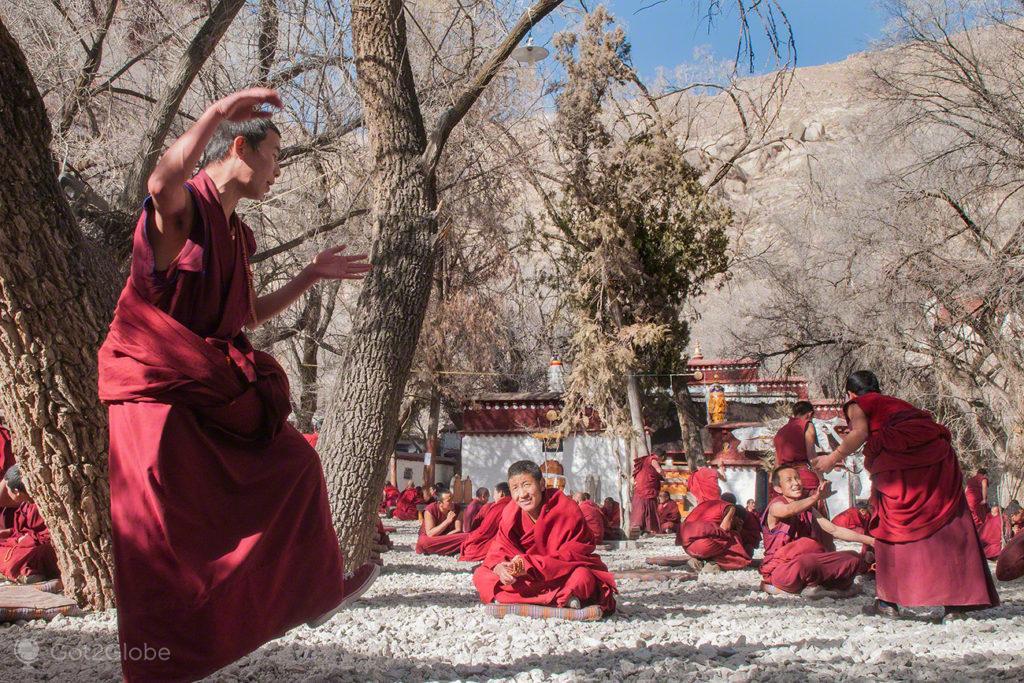 Projecção, Mosteiro de Sera, Sagrado debate, Tibete