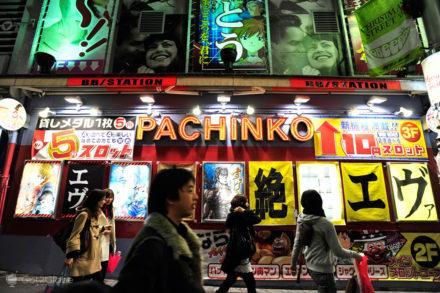 Salão de Pachinko, video vício, Japão