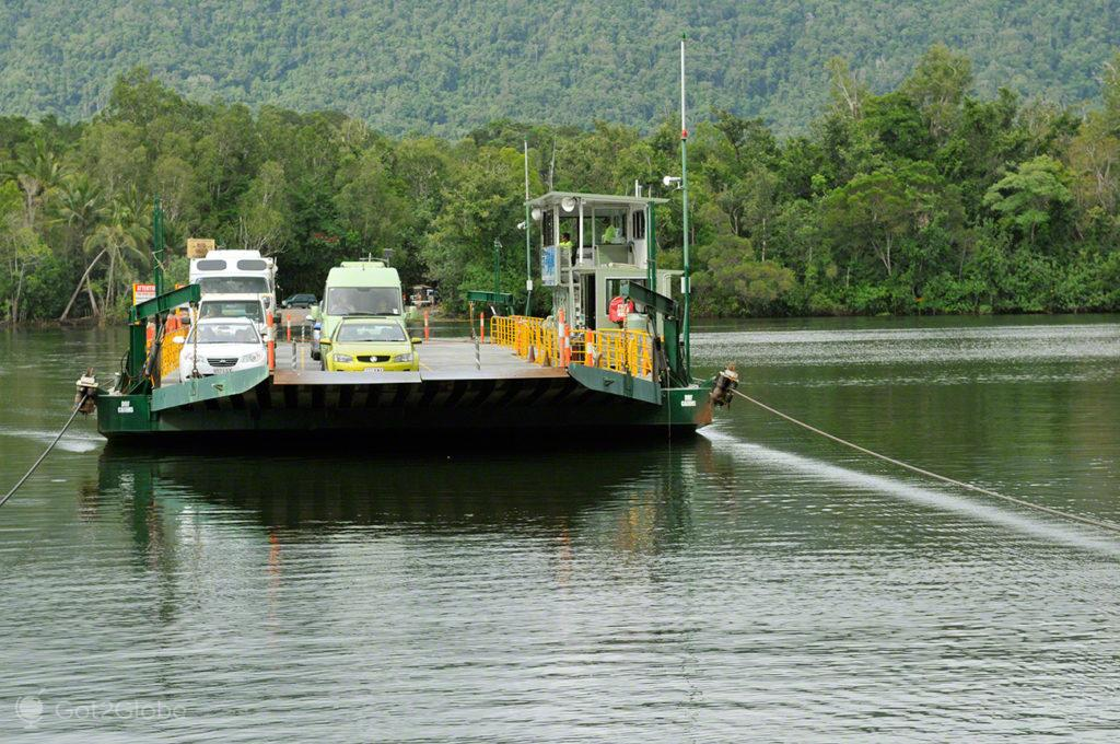 Balsa rio Daintree, Queensland Tropical Australia Selvagem