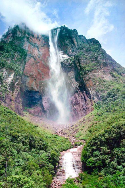 Salto Angel, Rio que cai do ceu, Angel Falls, PN Canaima, Venezuela