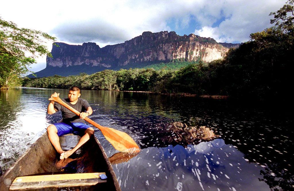 Canyon Ahonda, Salto Angel, Rio que cai do ceu, Angel Falls, PN Canaima, Venezuela